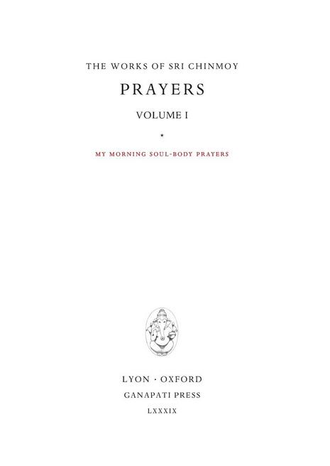 Prayers I